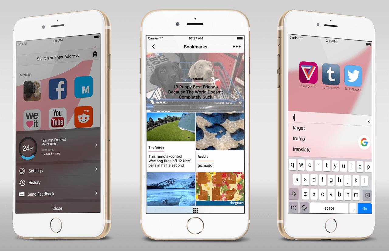 Обложка к записи Opera представит новый браузер для iPhone