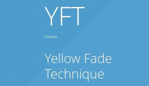 CSS анимация для «техники жёлтого затухания»