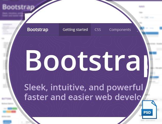 Обложка к записи Бесплатный PSD шаблон Twitter Bootstrap 3