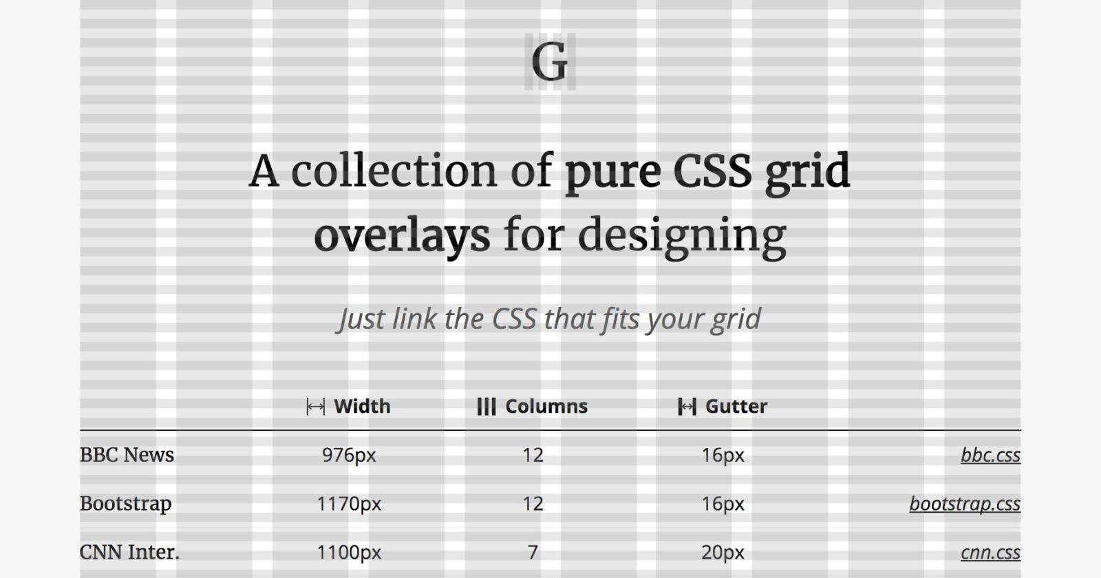 Graaf — направляющие для CSS сеток