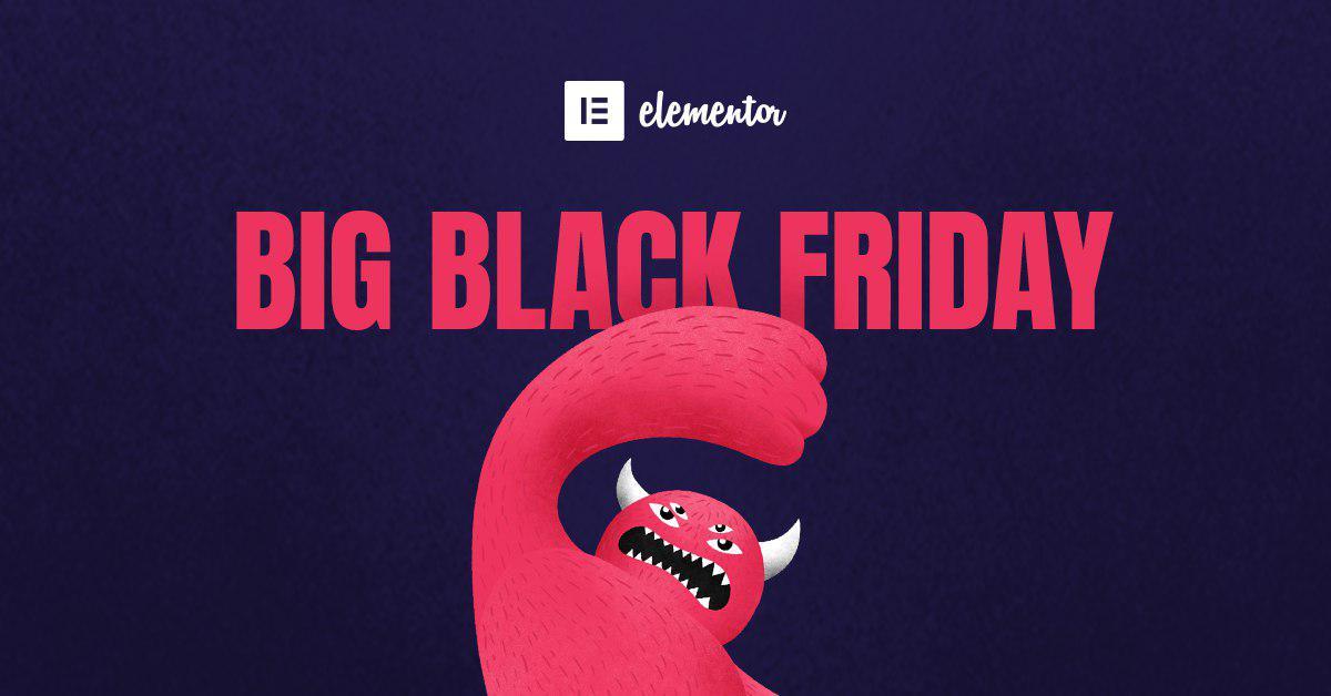 Обложка к записи Чёрная пятница в Elementor