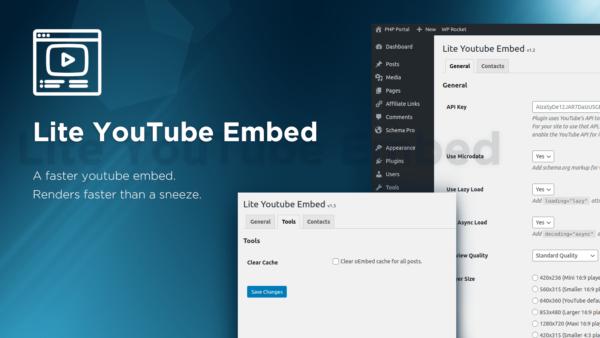 Обложка к записи Плагин Lite YouTube Embed для WordPress