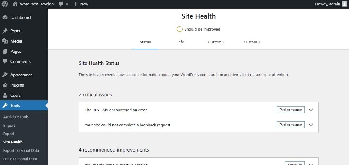 Обложка к записи Расширение экрана «Здоровье сайта» в WordPress 5.8